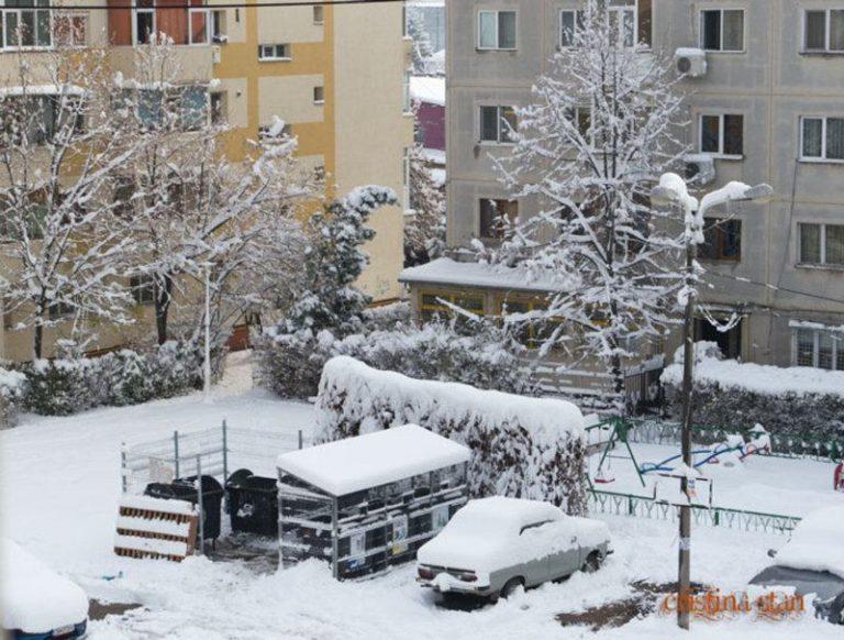 zapada iarna in Ploiesti